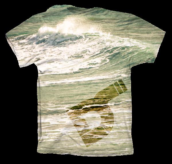Camiseta surfing trasera