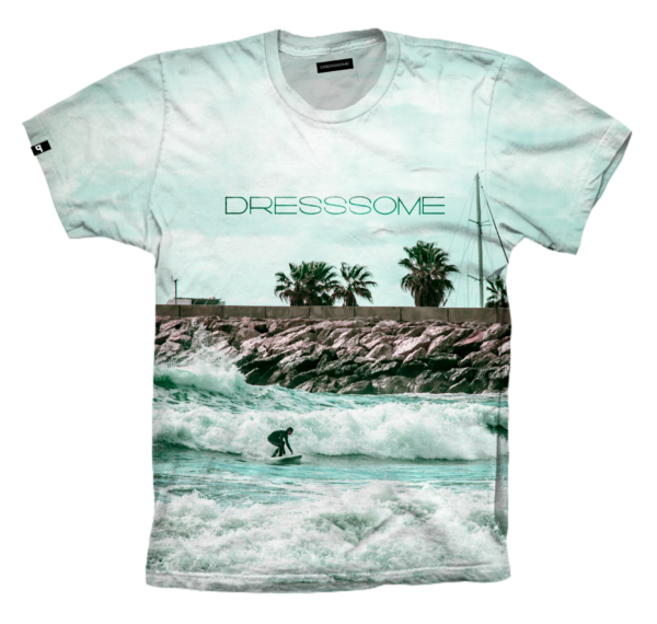 Camiseta Tropical surf delante