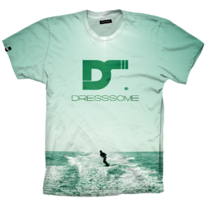 Camiseta Full print Wake-Green DS