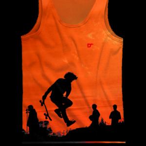 Camiseta Skate Orange