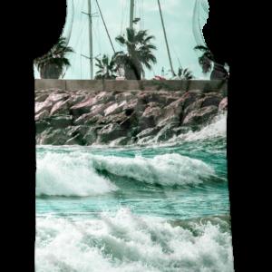 camiseta de tirantes - tropical surf- trasera