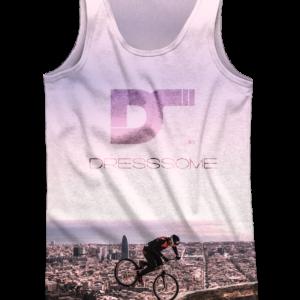 Camiseta de tirantes Trial Bunkers Purple - DRESSSOME - delantera