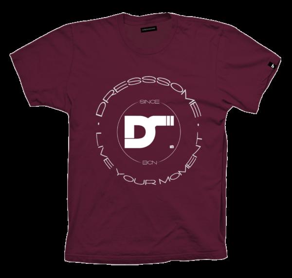 Camiseta burdeos - logotipo dresssome