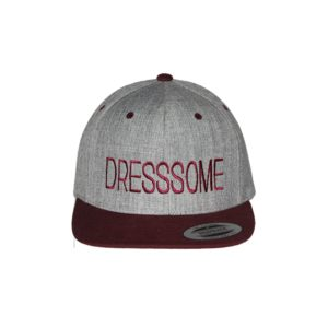 gorra-snapback-classic-2tones-greymaroon-dresssome-front