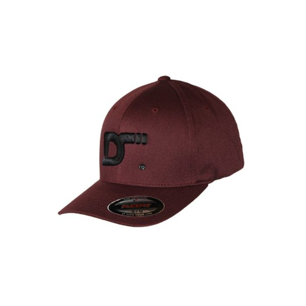 Gorra-Flexfit-Wooly-combed-maroon - lateral