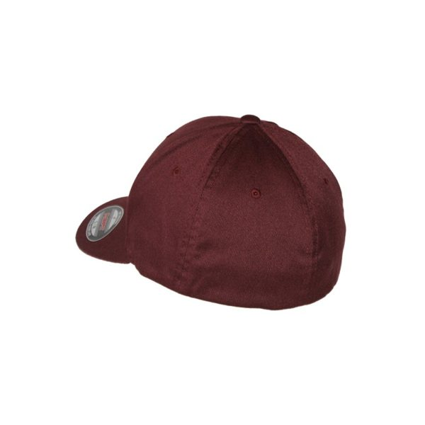 gorra-Flexfit-Wooly-combed-Maroon-trasera